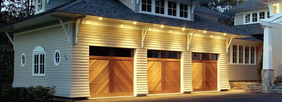puerta garage madera