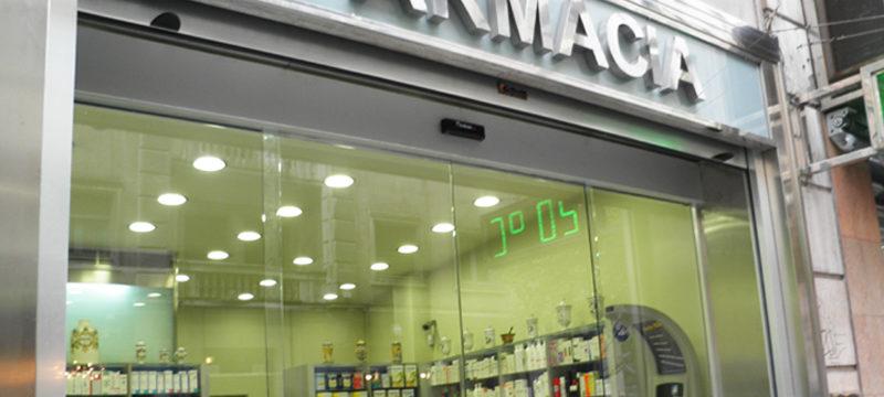 puerta automatica cristal Farmacia