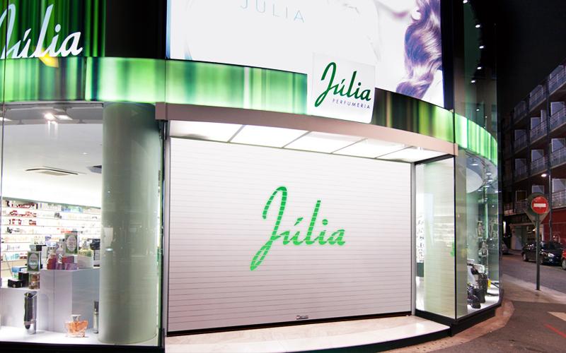 puerta automatica enrrollable perfumeria